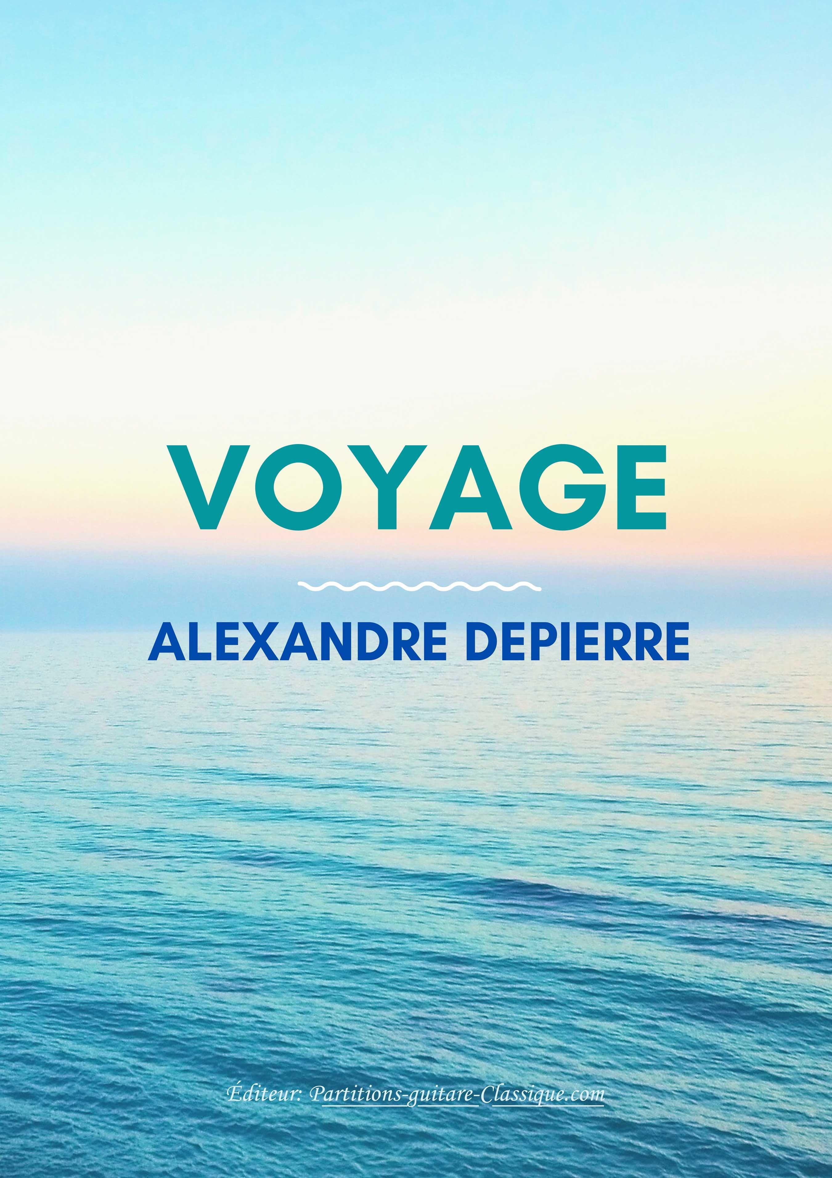 Recueil de 6 pièces pour guitare solo d'Alexandre Depierre.